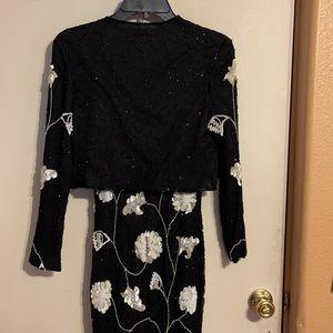 Vintage Styleworks sz 4 Silk Dress/Jacket